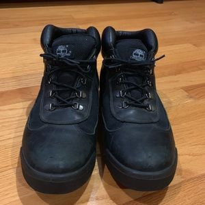 Black Leather Timberland Workboot